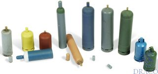 Vallejo Diorama Accessories 209: Modern Gas Bottles (12 pcs.) 1/35