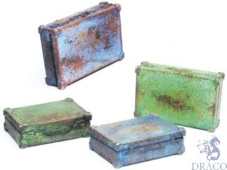 Vallejo Diorama Accessories 226: Metal Suitcases (4 pcs.) 1/35