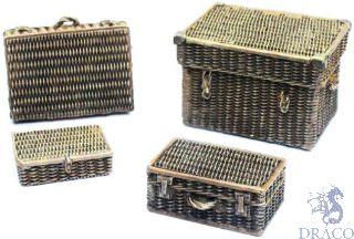 Vallejo Diorama Accessories 227: Wicker Suitcases (4 pcs.) 1/35