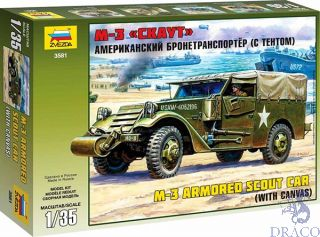 M-3 Armored Scout Car (With Canvas) 1/35 [Zvezda]