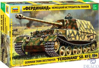 """Ferdinand"" SD.KFZ.184 German Tank Destroyer 1/35 [Zvezda]"