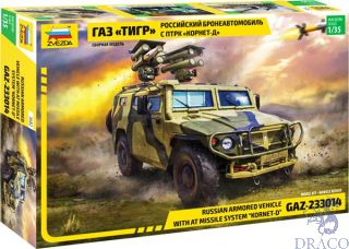 "GAZ-233014 Russian Armored Vehicle with Missile system ""Kornet-D"" 1/35 [Zvezda]"
