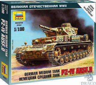 German Medium Tank Pz-IV Ausf.D 1/100 [Zvezda]