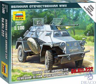 German Light Armored Car Sd.Kfz.222 1/100 [Zvezda]