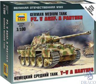 German Medium Tank Pz.V Ausf. A Panther 1/100 [Zvezda]
