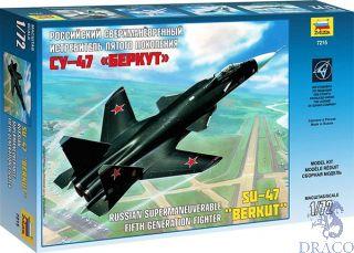 "Su-47 ""BERKUT"" Russian Supermaneuverable Fifth Generation Fighter 1/72 [Zvezda]"