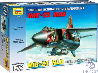 MIG-23 MLD Soviet Fighter Bomber 1/72 [Zvezda]