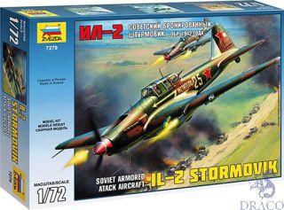Soviet Armored Attack Aircraft Ilyushin IL-2 Stormovik mod. 1942 1/72 [Zvezda]
