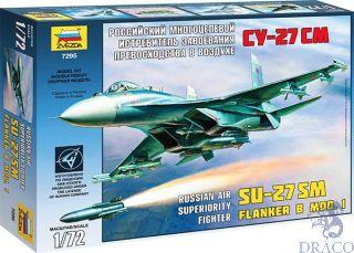 Russian Air Superiority Fighter SU-27SM Flanker B Mod.I 1/72 [Zvezda]