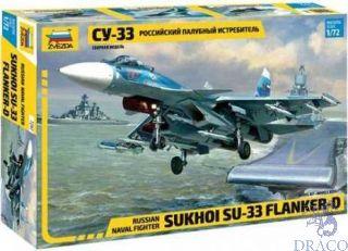 Russian Naval Fighter Sukhoi SU-33 Flanker D 1/72 [Zvezda]