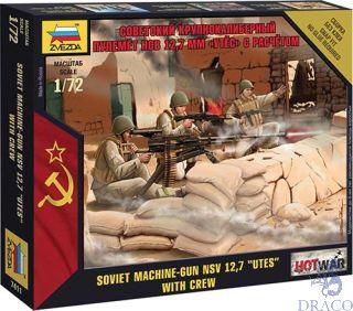 "Soviet Machine-Gun NSV 12,7 ""UTES"" With Crew 1/72 [Zvezda]"