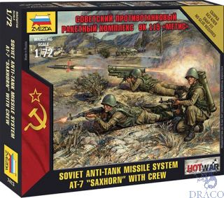 "Soviet Anti-Tank Missile System AT-7 ""Saxhorn"" with Crew 1/72 [Zvezda]"