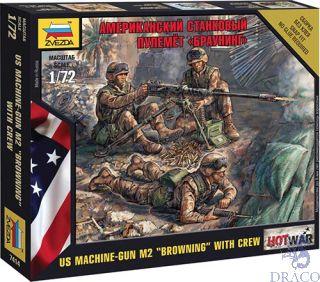 """American Machine gun """"Browning"""" with Crew 1/72 [Zvezda]"""