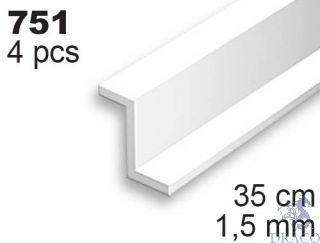Evergreen 751: Profil Z výšky 1,5 mm (35 cm)(4 ks)