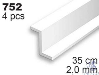 Evergreen 752: Profil Z výšky 2,0 mm (35 cm)(4 ks)