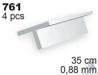Evergreen 761: Profil T výšky 0,88 mm (35 cm)(4 ks)