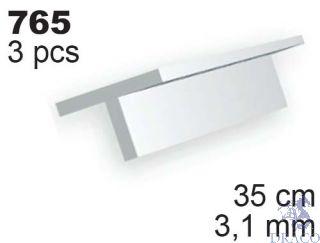 Evergreen 765: Profil T výšky 3,1 mm (35 cm)(3 ks)