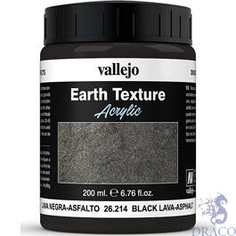 Vallejo Diorama Effects 214: Black Lava 200 ml.