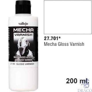Vallejo Mecha Varnish 701: Gloss Varnish 200 ml.