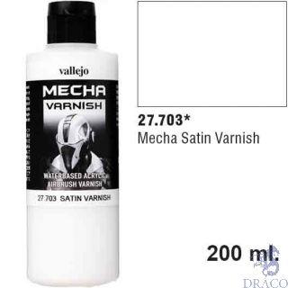 Vallejo Mecha Varnish 703: Satin Varnish 200 ml.