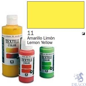 Vallejo Textile Color 011: Lemon Yellow 60 ml.