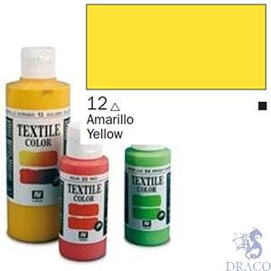 Vallejo Textile Color 012: Yellow 60 ml.
