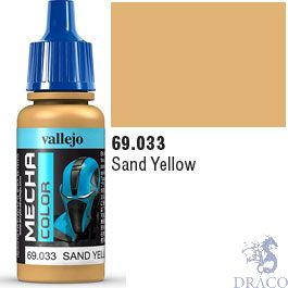Vallejo Mecha Color 033: Sand Yellow 17 ml.