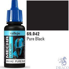 Vallejo Mecha Color 042: Pure Black 17 ml.