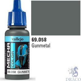 Vallejo Mecha Color 058: Gunmetal 17 ml.