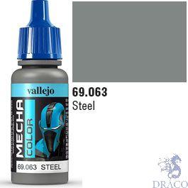 Vallejo Mecha Color 063: Steel 17 ml.