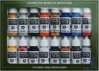 Vallejo Model Color Set 101: Folkstone Basics (16 colors)