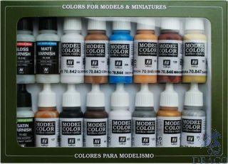 Vallejo Model Color Set 102: Folkstone Specialist (16 colors)