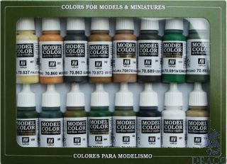 Vallejo Model Color Set 109: WWII Allied (16 colors)