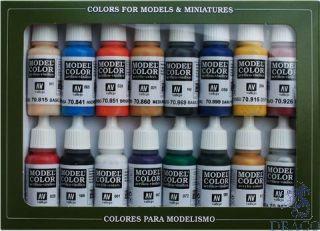 Vallejo Model Color Set 110: Napoleonic Colors (16 colors)