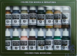 Vallejo Model Color Set 114: WWII German Camouflage (16 colors)