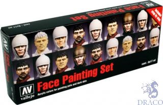 Vallejo Model Color Set 119: Face Painting Set by Jaume Ortiz (8 colors)