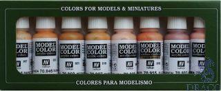 Vallejo Model Color Set 124: Face & Skin Tones (8 colors)