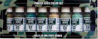 Vallejo Panzer Aces Color Set No 3: Allied Crew Uniforms (8 colors)