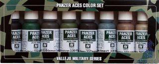 Vallejo Panzer Aces Color Set No 5: German Crew Uniforms (8 colors)