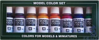 Vallejo Model Color Set 136: Transparent Colors (8 colors)
