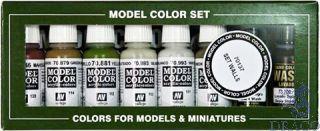 Vallejo Model Color Set 137: Building Set 1 (8 colors)