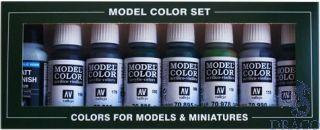 Vallejo Model Color Set 138: Demag D-7 Africa Corps (8 colors)