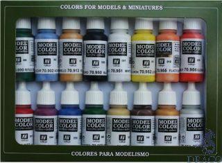 Vallejo Model Color Set 140: Basic Colors U.S.A. (16 colors)