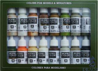 Vallejo Model Color Set 141: Earth Colors (16 colors)