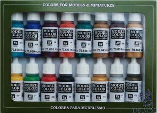 Vallejo Model Color Set 142: Medieval Colors (16 colors)