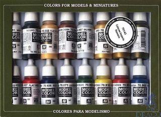 Vallejo Model Color Set 143: Imperial Roman (16 colors)