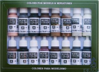 Vallejo Model Color Set 144: Equestrian Colors (16 colors)
