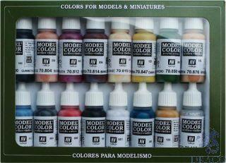 Vallejo Model Color Set 145: Native Americans (16 colors)