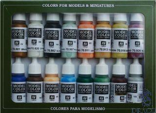 Vallejo Model Color Set 146: Naval - Steam Era (16 colors)