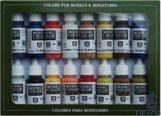 Vallejo Model Color Set 147: American Colonial (16 colors)